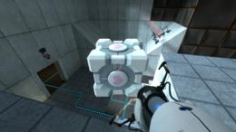 Portal: weighted companion cube